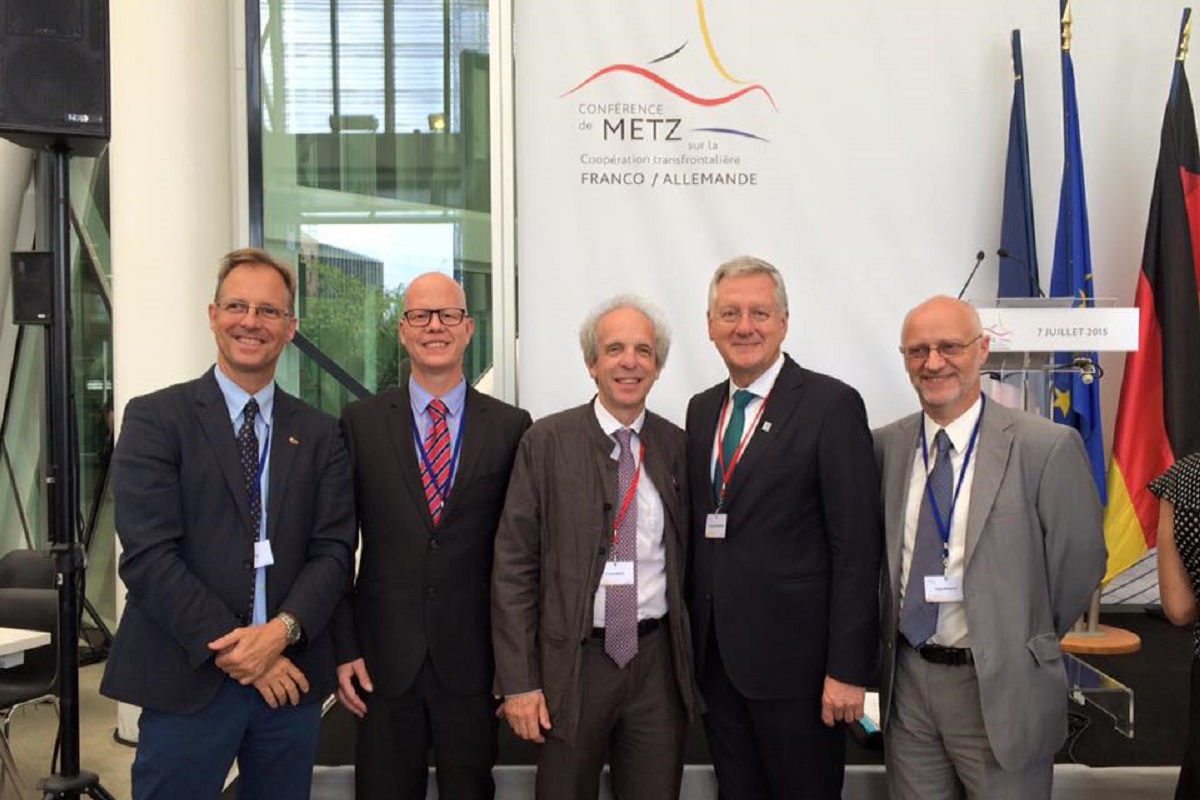 The Metz conference on Franco-German cross-border cooperation, july 2015.