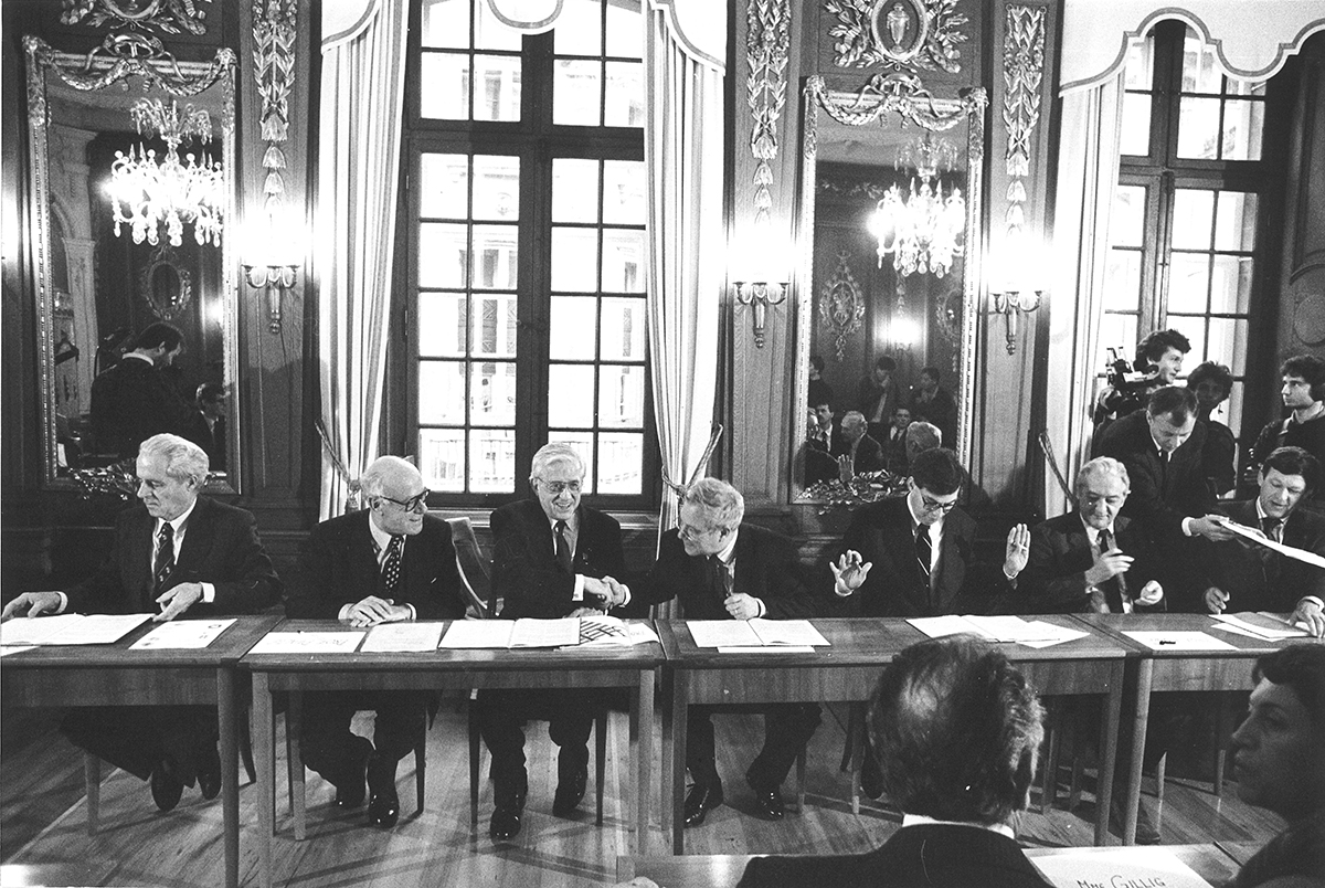 Creation of the European Confederation of Upper Rhine universities (EUCOR) in 1989.