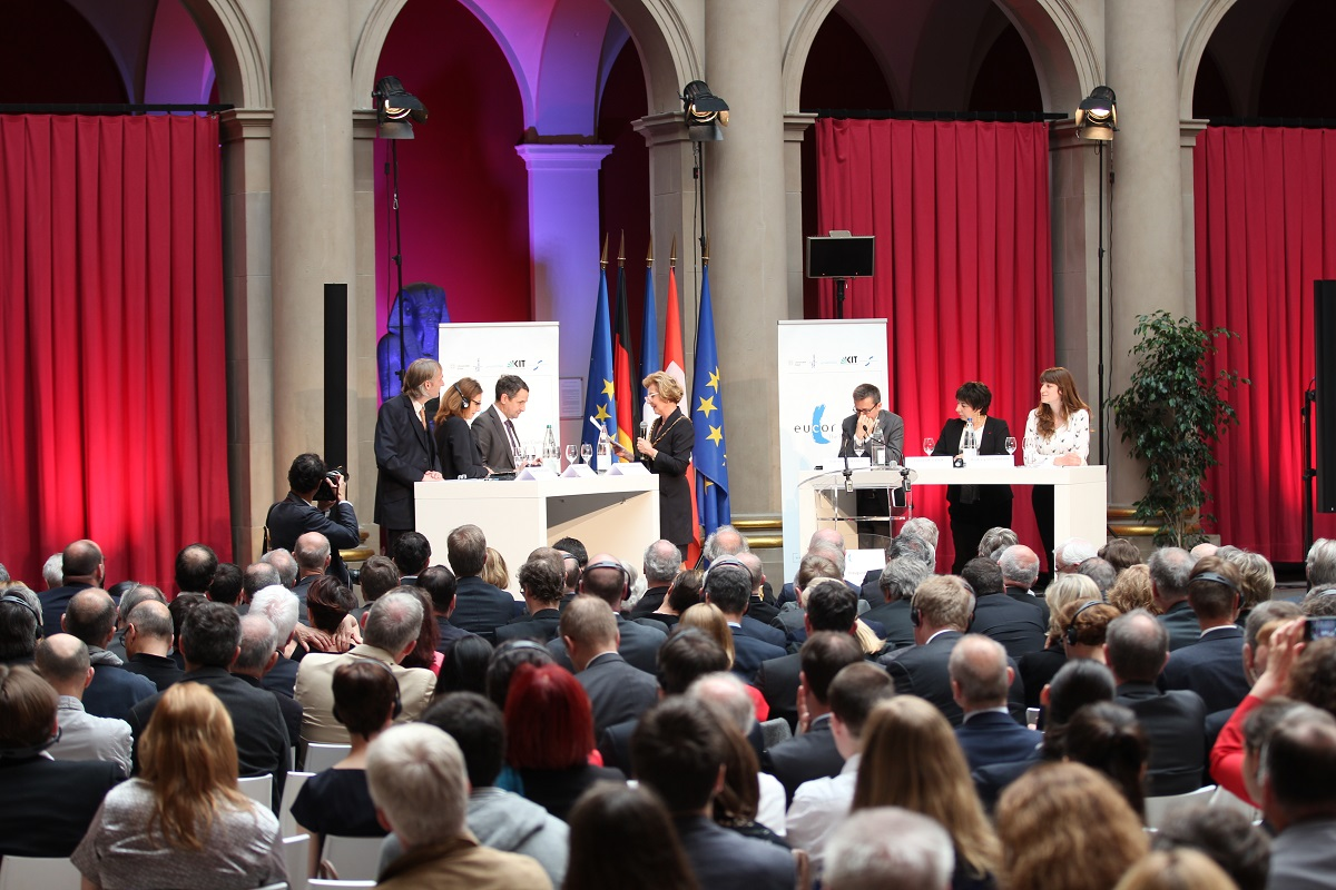 Eröffnung des EVTZ Eucor – The European Campus am 11. Mai 2016 in Strasbourg.